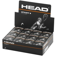 Head Start Squash Balls Single White Dot - 1 Dozen