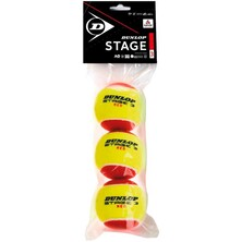 Dunlop Red Junior Tennis Balls Stage 3  - 3 Pack
