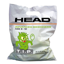 Head 72 x Tip Green Junior Tennis Ball