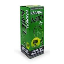 Karakal Mid Green Junior Tennis Balls - Box Of 3
