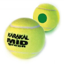 Karakal Mid Green Junior Tennis Balls - 1 Dozen
