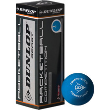 Dunlop Competition Racketball Balls - 3 Ball Box Blue Yellow Dot