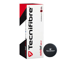 Tecnifibre Racketball Balls - 3 Ball Box - Black