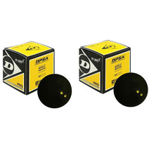 Dunlop Pro Squash Balls - Double Yellow Dot - 2 Balls
