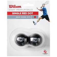 Wilson Staff Red Dot Squash Balls 2 Pack