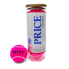Price Crown Pressureless Court Balls 3 Ball Can - Pink