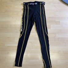 Skins Sport Men's Compression Long Tights Black Yellow OUTLET