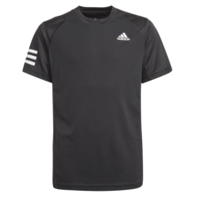 Adidas Boys 3 Stripes Club Tee 2021 Black
