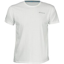 Babolat Boys Core Tee White