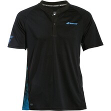 Babolat Men's Performance Polo Black Parisian Blue