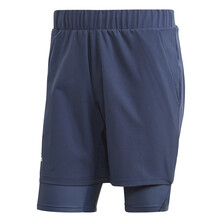 Adidas Ergo Heat Ready Two-In-One Shorts Tech Indigo