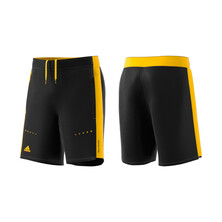 Adidas Barricade Boy's Short Black Yellow