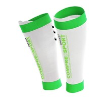 Compressport Compression Pro Silicon R2 Calf White - Racket