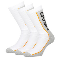 Head Performance Crew Socks White Grey 3 Pairs