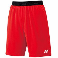 Yonex 15075 Men's Performance Shorts Fire Red