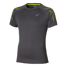 Asics Stripe Men's Top Dark Grey