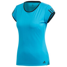 Adidas Women's Club 3 Stripe Tee Blue