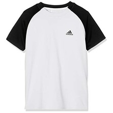 Adidas Boy's Club 3 Stripe Tee White Black