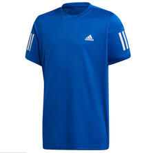 Adidas Boys Club 3 Stripe Tee Blue