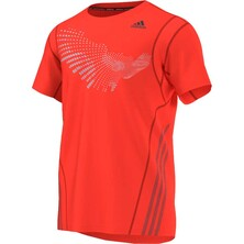 Adidas Graphic Mens Technical T-Shirt Solar Red