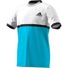 Adidas Boy's Court Tee Black White Samba
