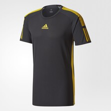 Adidas Barricade Men's Tee Black Yellow