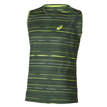 Asics Athlete Lightweight Sleeveless Men's Graphic Stripe Oak Green