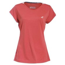 Babolat Girls' Performance Cap Sleeve Top Hibiscus