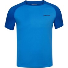Babolat Boys Play Crew Neck Tee Blue Aster