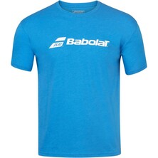 Babolat Boys Exercise Crew Neck Tee Blue Aster Heather