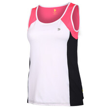 Pure Lime Women's All Round Tank White Black