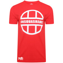 UNSQUASHABLE PDHSports Training Performance T-Shirt Red White