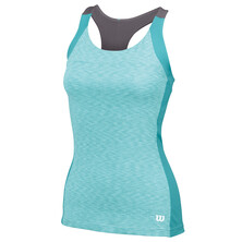 Wilson Women's Striated Racerback Tank Dark Mint
