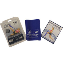 Fitness Mad Resistance Bands & User Guide - Medium Blue
