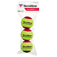 Tecnifibre My New Ball Stage 3 Pack Of 3 Red