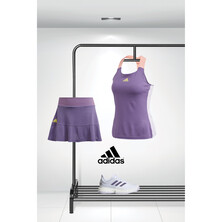 Adidas Heat Ready Women's Tennis Outfit And Solecourt Bundle