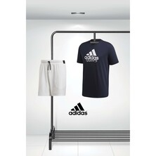 Adidas Men's Category Tee And Stretch Woven Shorts Outfit