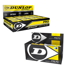 Dunlop Pro Double Yellow Dot Squash Balls And Dunlop PU Replacement Grips Bundle