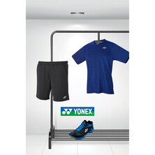 Yonex Men's 65 Z2 Shoe And Clothing Bundle