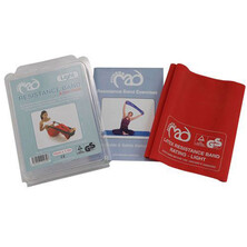Fitness Mad Resistance Bands & User Guide - Light Red