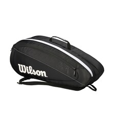 Wilson Federer Team 6 Pack Racketbag Black White