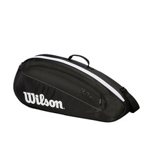 Wilson Federer Team 3 Pack Racketbag Black White