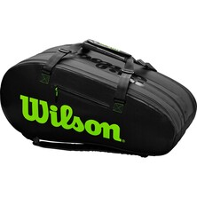 Wilson Super Tour 3 Comp Racket Bag Charcoal Green