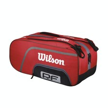 Wilson RF Federer Team 12 Pack Racketbag Red