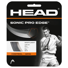 Head Sonic Pro Edge 1.30mm Tennis Restring Upgrade Anthracite