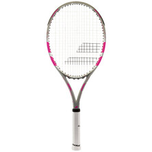 Babolat Flow Lite Tennis Racket Grey Pink