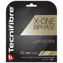 Tecnifibre X-One Biphase 1.30 Natural Tennis Restring Upgrade