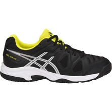 Asics Kids GEL-Game 5 GS Tennis Shoes - Black/Silver/Sulphur Spring