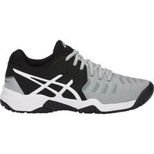 Asics Kids GEL-Resolution 7 GS Tennis Shoes - Mild Grey/Black/White