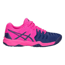 Asics Kids Gel Resolution 7 GS Tennis Shoes Pink Glo Blue Print